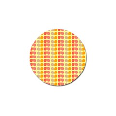 Colorful Leaf Pattern Golf Ball Marker by creativemom
