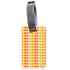Colorful Leaf Pattern Luggage Tag (one Side) by creativemom
