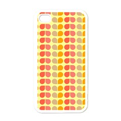Colorful Leaf Pattern Apple Iphone 4 Case (white) by creativemom