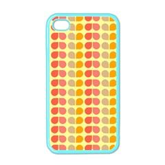 Colorful Leaf Pattern Apple Iphone 4 Case (color) by creativemom
