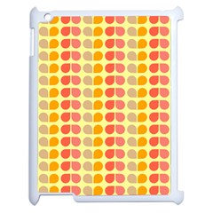 Colorful Leaf Pattern Apple Ipad 2 Case (white) by creativemom