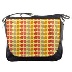 Colorful Leaf Pattern Messenger Bag by creativemom