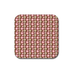 Cute Floral Pattern Drink Coaster (square) by creativemom