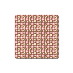 Cute Floral Pattern Magnet (square) by creativemom