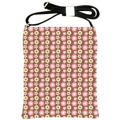 Cute Floral Pattern Shoulder Sling Bag by creativemom