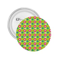 Cute Floral Pattern 2.25  Button by creativemom