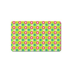 Cute Floral Pattern Magnet (name Card) by creativemom
