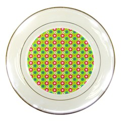 Cute Floral Pattern Porcelain Display Plate by creativemom