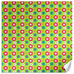 Cute Floral Pattern Canvas 20  X 20  (unframed) by creativemom