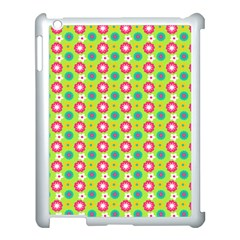 Cute Floral Pattern Apple Ipad 3/4 Case (white) by creativemom