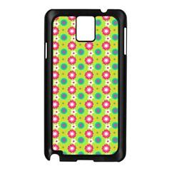 Cute Floral Pattern Samsung Galaxy Note 3 N9005 Case (black) by creativemom
