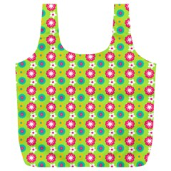 Cute Floral Pattern Reusable Bag (xl) by creativemom