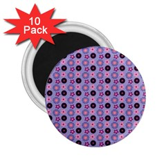 Cute Floral Pattern 2 25  Button Magnet (10 Pack) by creativemom