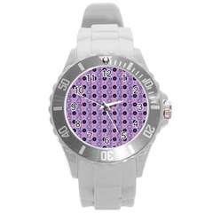 Cute Floral Pattern Plastic Sport Watch (large) by creativemom