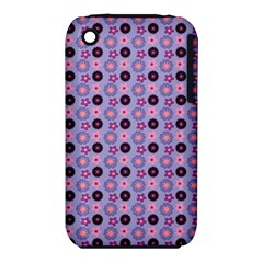 Cute Floral Pattern Apple Iphone 3g/3gs Hardshell Case (pc+silicone) by creativemom