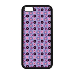 Cute Floral Pattern Apple Iphone 5c Seamless Case (black) by creativemom