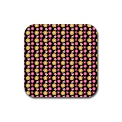 Cute Floral Pattern Drink Coasters 4 Pack (square) by creativemom