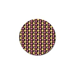Cute Floral Pattern Golf Ball Marker 10 Pack by creativemom