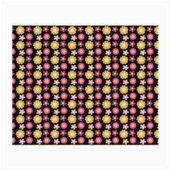 Cute Floral Pattern Glasses Cloth (small, Two Sided) by creativemom
