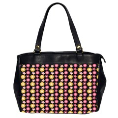 Cute Floral Pattern Oversize Office Handbag (Two Sides) by creativemom