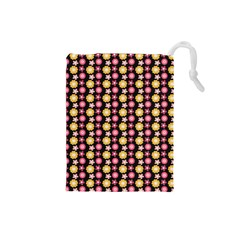 Cute Floral Pattern Drawstring Pouch (Small) by creativemom