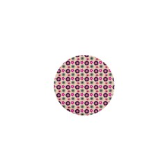 Cute Floral Pattern 1  Mini Button by creativemom