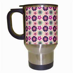 Cute Floral Pattern Travel Mug (white) by creativemom