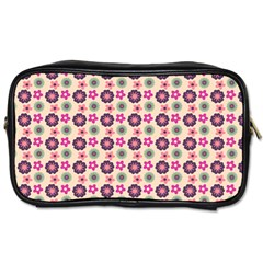 Cute Floral Pattern Travel Toiletry Bag (one Side) by creativemom