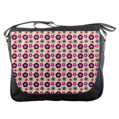 Cute Floral Pattern Messenger Bag by creativemom