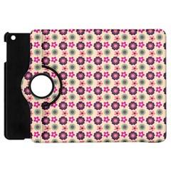 Cute Floral Pattern Apple Ipad Mini Flip 360 Case by creativemom