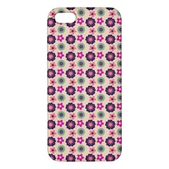 Cute Floral Pattern Apple Iphone 5 Premium Hardshell Case by creativemom