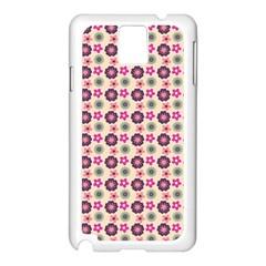 Cute Floral Pattern Samsung Galaxy Note 3 N9005 Case (white) by creativemom