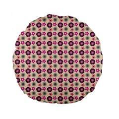 Cute Floral Pattern 15  Premium Flano Round Cushion  by creativemom