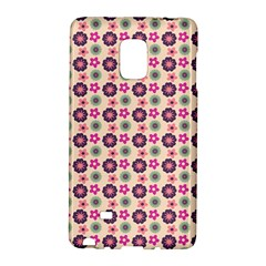 Cute Floral Pattern Samsung Galaxy Note Edge Hardshell Case by creativemom