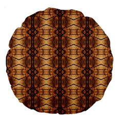 Faux Animal Print Pattern 18  Premium Round Cushion  by creativemom