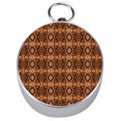 Faux Animal Print Pattern Silver Compass by creativemom