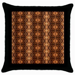 Faux Animal Print Pattern Black Throw Pillow Case by creativemom