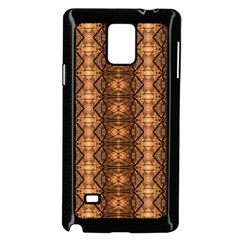 Faux Animal Print Pattern Samsung Galaxy Note 4 Case (black) by creativemom
