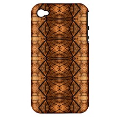 Faux Animal Print Pattern Apple Iphone 4/4s Hardshell Case (pc+silicone) by creativemom