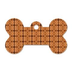 Faux Animal Print Pattern Dog Tag Bone (two Sided) by creativemom