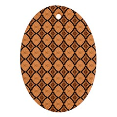 Faux Animal Print Pattern Oval Ornament (two Sides) by creativemom