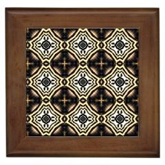 Faux Animal Print Pattern Framed Ceramic Tile by creativemom