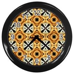 Faux Animal Print Pattern Wall Clock (black) by creativemom