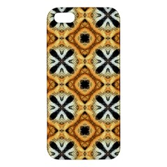Faux Animal Print Pattern Apple Iphone 5 Premium Hardshell Case by creativemom