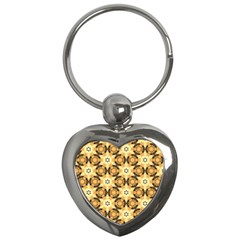 Faux Animal Print Pattern Key Chain (heart) by creativemom