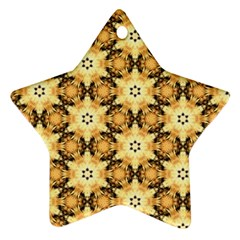 Faux Animal Print Pattern Star Ornament (two Sides) by creativemom
