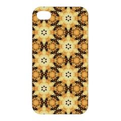 Faux Animal Print Pattern Apple Iphone 4/4s Premium Hardshell Case by creativemom