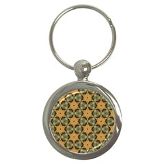 Faux Animal Print Pattern Key Chain (Round) by creativemom