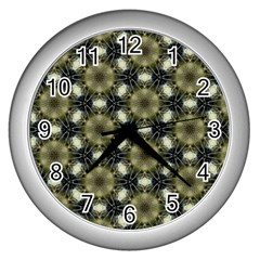 Faux Animal Print Pattern Wall Clock (silver) by creativemom