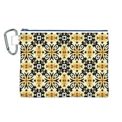 Faux Animal Print Pattern Canvas Cosmetic Bag (Large) by creativemom